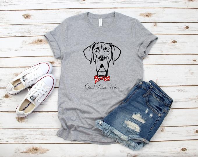Great Dane Mom T-Shirt, Dog Mom Shirt, Boy or Girl Dog