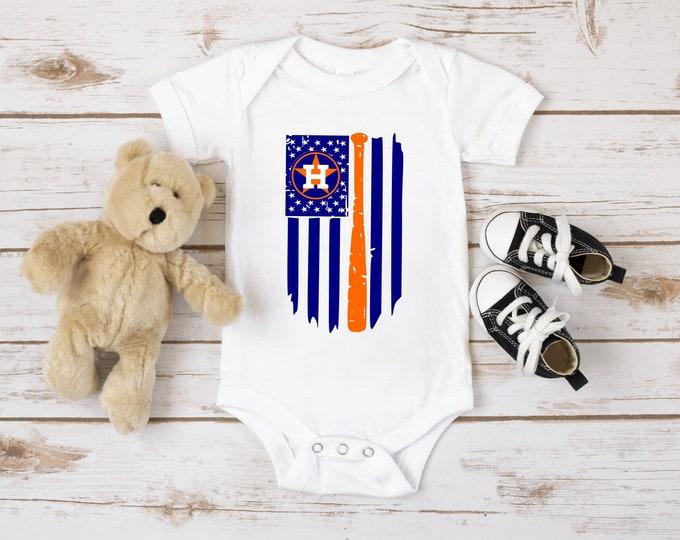 Astros White Bodysuit, Houston Astro Baby