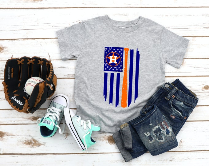 Houston Astros Youth and Toddler Shirt, Houston Baseball, 2 Colors available