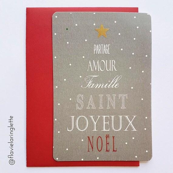 Carte Postale Joyeux Et Saint Noël Mots Noël Livraison Gratuite En France