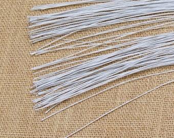 Mandala Crafts White Brown Red Black Green 18 20 22 24 26 Gauge Florist Stem Paddle Floral Wire 100PCs 22 Gauge 0.6mm, Black 16