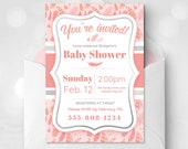Pink Feather Baby Shower ...
