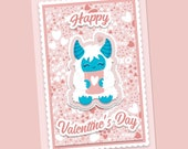 Valentine Card Cut File, ...