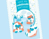 Yeti Birthday Card, DIY, ...
