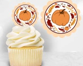 Harvest Festival Theme Cupcake Toppers, Fall Cupcake Toppers, Autumn Cupcake Toppers, DIY Cupcake Topper, Printable Cupcake Topper, Download