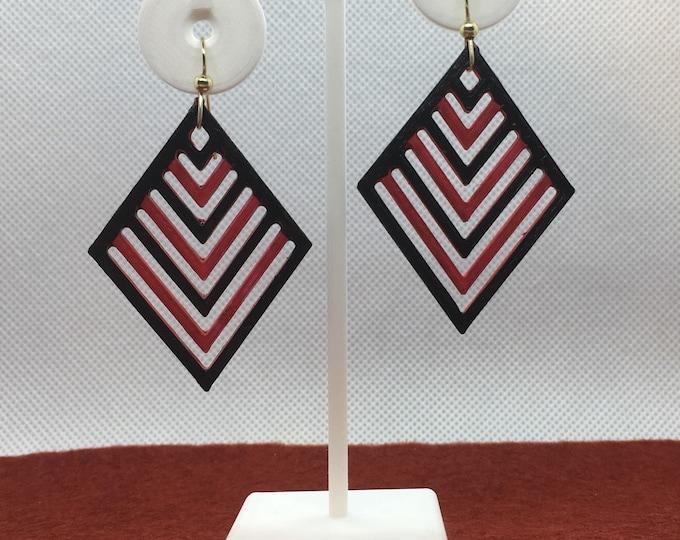 Chevron 3D-Printed Earrings