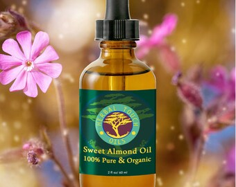 Almond Sweet Oil - Organic Massage and Body Oil by Herbal Touch Oils