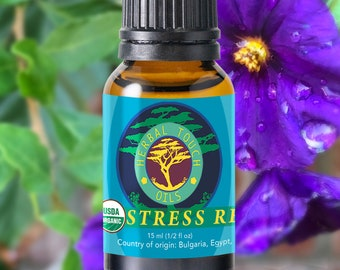 Stress Remedy - Organic Essential Oils Aromatherapy by Herbal Touch Oils