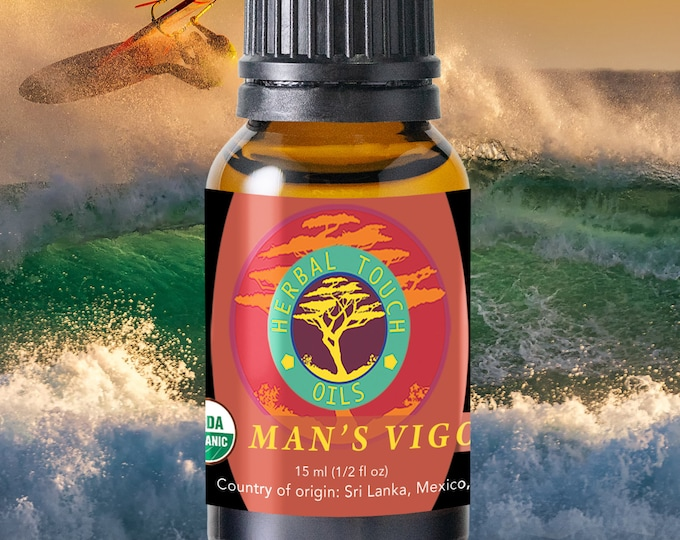 Featured listing image: Man's Vigor Remedy - Organic Essential Oils Aromatherapy by Herbal Touch Oils