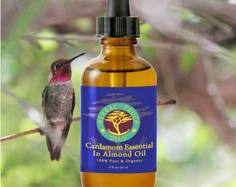 Cardamom Essential in Almond Sweet Oil - Organic Aromatherapy Body Oil Blend by Herbal Touch Oils