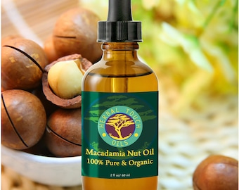 Macadamia Nut Oil - Organic Massage and Body Oil by Herbal Touch Oils