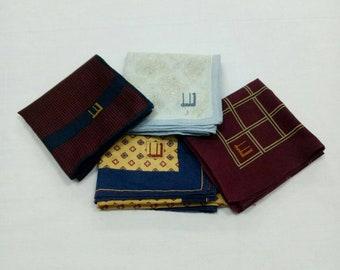 c6d078b24ef5a Lot of 4 pieces DUNHILL handkerchief pocketsquare multi design Not burberry  fendi ysl
