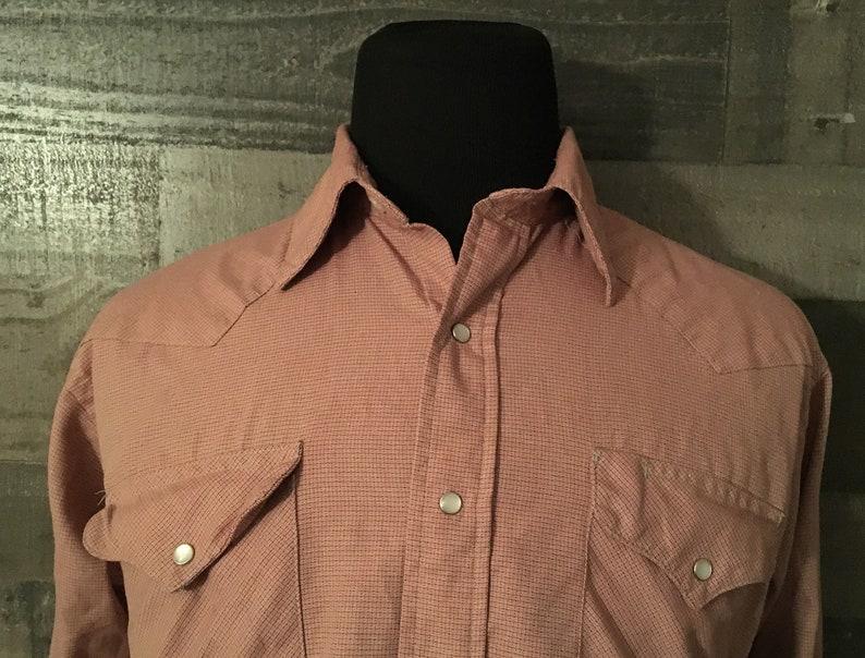 22b573e4 Vintage Ruddock Western Button Down shirt Pearl Snap Plaid | Etsy