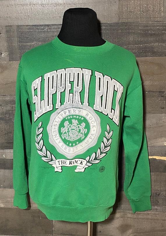 Vintage Slipper Rock University Green 1980s Colleg