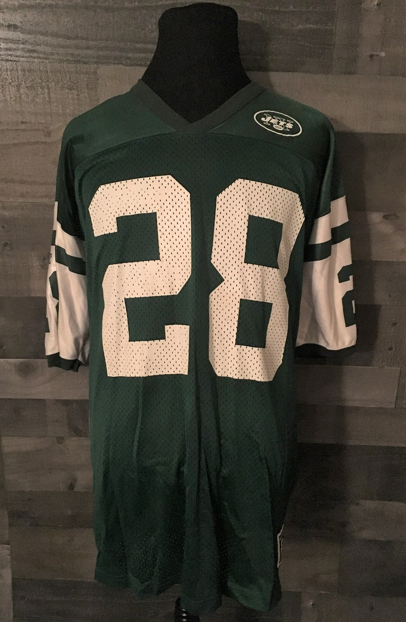 769ba655b53 Vintage 1990s Curtis Martin 28 New York Jets Starter 90s NFL | Etsy