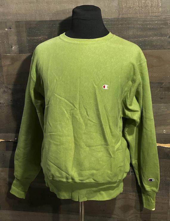 Vintage 80s Pea Green Champion Reverse Weave 1980s