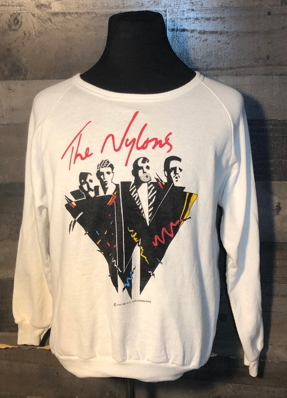 Vintage The Nylons Music Band 1980s Canada tee tsh