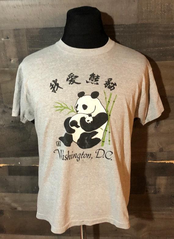 Vintage 1980s Panda Bear Washington DC Travel Tour