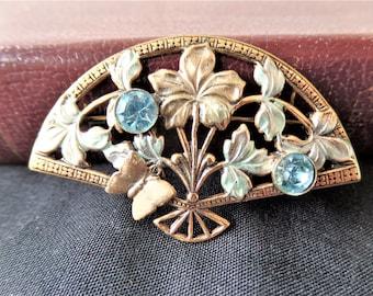 Vintage Jewelry Costume Brooch Silver tone Metal 1980-s
