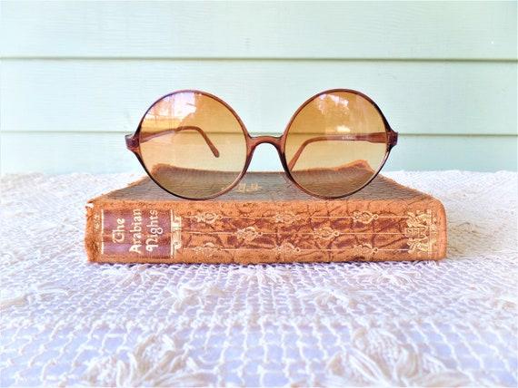 Vintage Circle Non Prescription Framed Sun Glasses