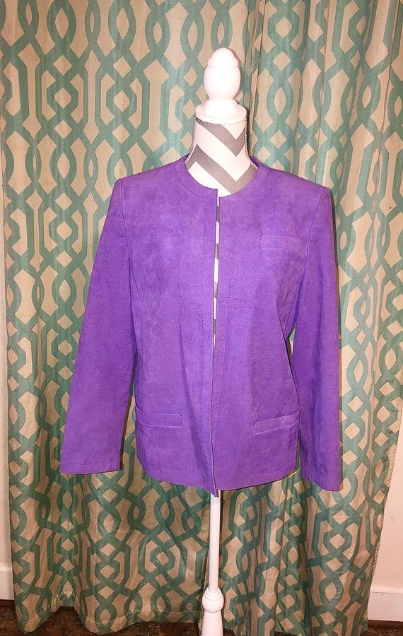 Vintage Abe Schrader Union Made Women's Purple Sue