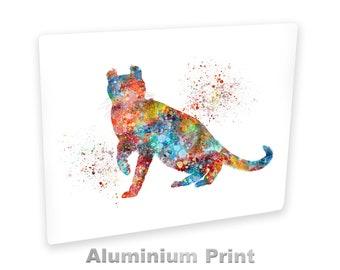 American Curl Aluminum Art Print , Colorful Cat Breed Wall Hanging Art Decor , Handmade Watercolor Pet Ready To Hang Art Illustration