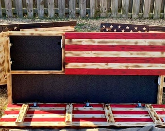 """Get Ready 1.0"""" U.S. Flag with Two Concealed Compartments"""