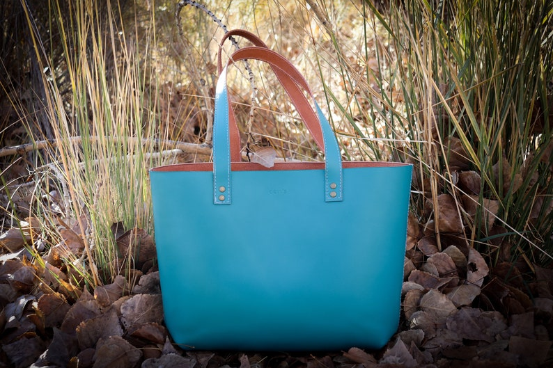 Veg-Tan Leather. Leather purse Personalized Leather tote bag