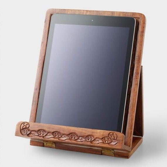 iPad Stand Wood Tablet Stand iPad Stand kitchen iPad Holder Tablet Holder  Kitchen Tablet Stand Cookbook Holder Cookbook stand Recipe holder