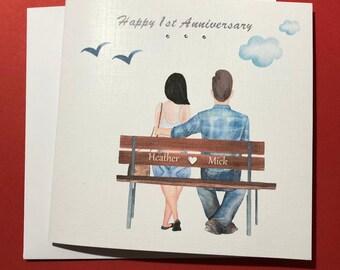 Handmade Carte d/'anniversaire pour meilleur ami//soeur//Cousin etc 25th 30th 35th 40th