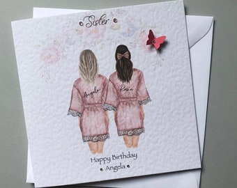Cousins by birth sisters by friendship gift birthday best friends mates bff w