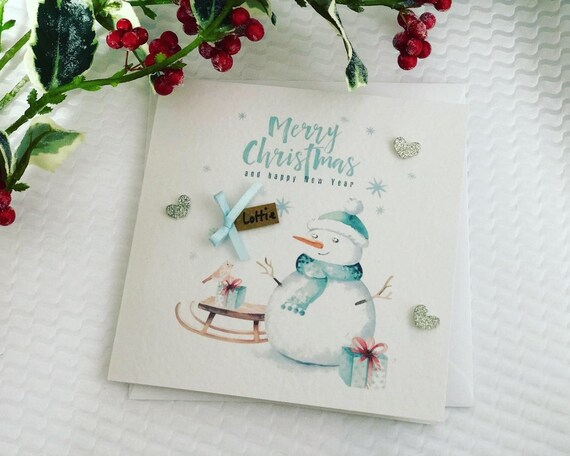Merry Christmas Niece.Merry Christmas Handmade Card Personalised Girlfriend Boyfriend Grandson Granddaughter Niece Nephew