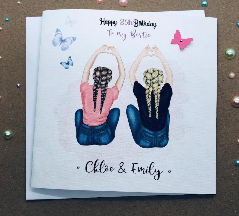 Best Friend Happy Birthday Handmade Card Sister/ Cousin ...