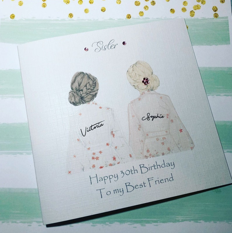 Best Friend Happy Birthday Handmade Card Sister Cousin 18th