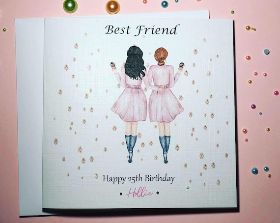 Brilliant Best Friend Happy Birthday Handmade Card Sister Cousin 18Th Etsy Funny Birthday Cards Online Overcheapnameinfo