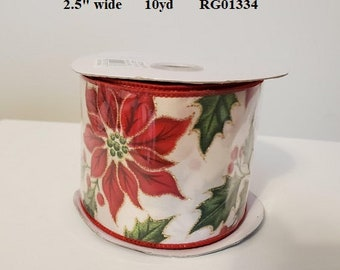 Green Ribbon wMerry Christmas printedAssorted YardagesCraft Supplies*