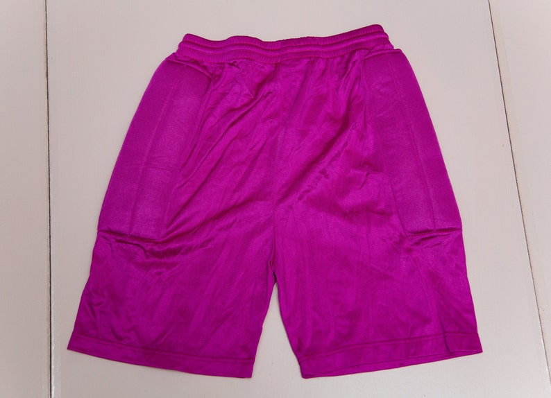 Vtg rare 80/'s REUSCH Pro Geo Eco System pink football soccer goalkeeper shorts Made in West Germany with padding slim fit sz men/'s L