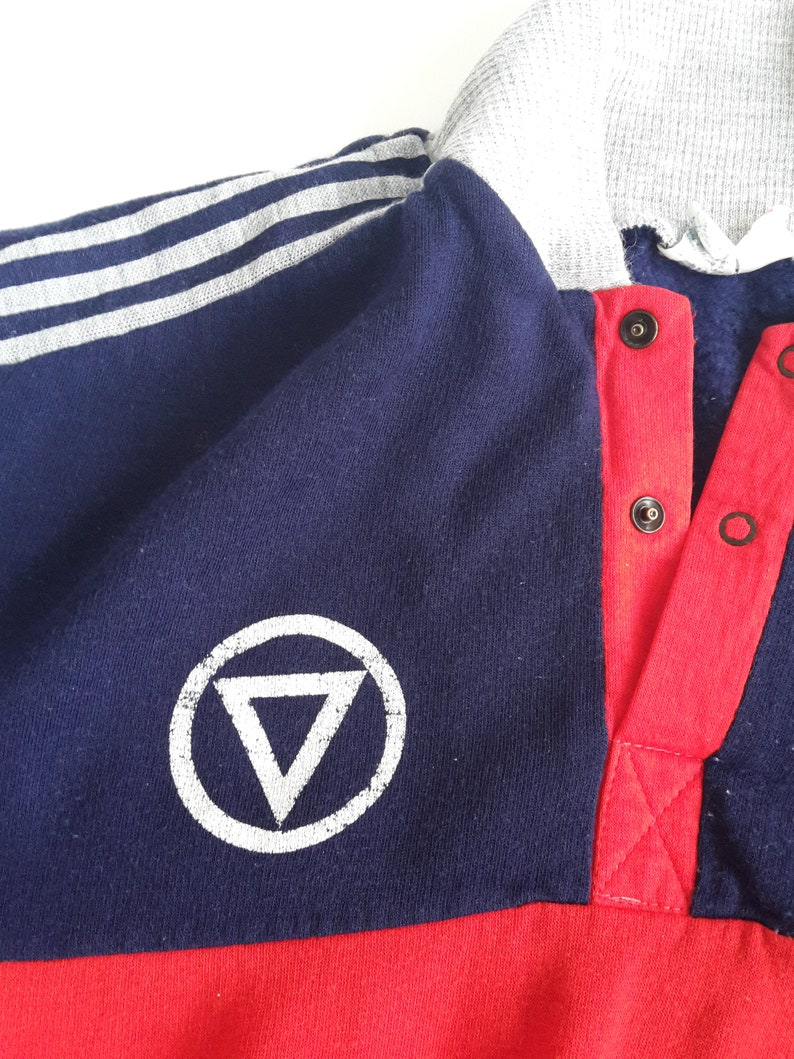 ADIDAS vintage vtg pullover sweater jumper sports Made in France Ventex 70s retro Men's L large
