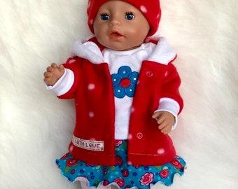 B 43 cm Baby Born Chou Chou  Jaco-o Krümel  3tlg. Puppenkleidung z