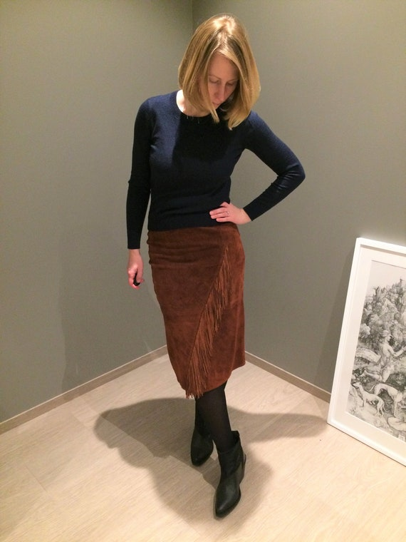 Vintage suede skirt Scully