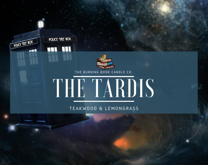 Featured listing image: The Tardis - Soy Candle - Doctor Who