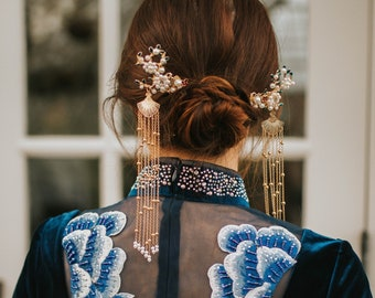 49f22ca6f Chinese Wedding Hairpin | Chinese Bridal Hairclip | Chinese Cheongsam Dress Hair  Accessories & Headdress