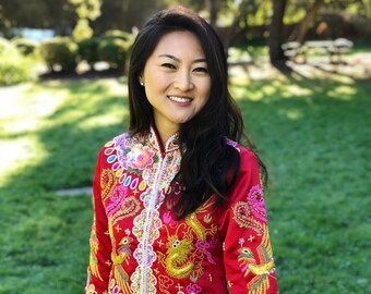 edd6895c4 Chinese Traditional Wedding Dress | Colorful Qun Kwa | Chinese Dress | Chinese  Wedding Dress | Traditional Qipao | Tea Ceremony Dress