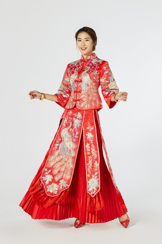 Chinese Wedding Dress Kua Kwa Qipao Cheongsam 41 many sizes available