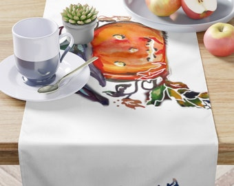 Table Runner/Entertain In Holiday Style/Witch Pumpkin / Halloween Decor/ Bright Colors Dress Up Table/Entertain With Style