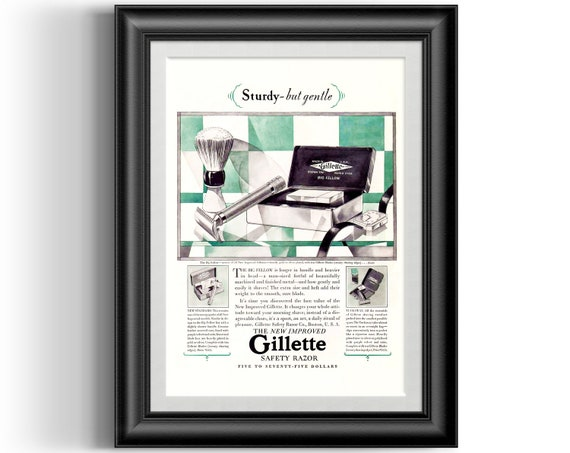 Vintage Travel advert Reproduction poster Look feel be Gillette Wall art.