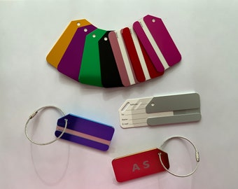 Suitcase tag luggage tag with their personal initials or their saying
