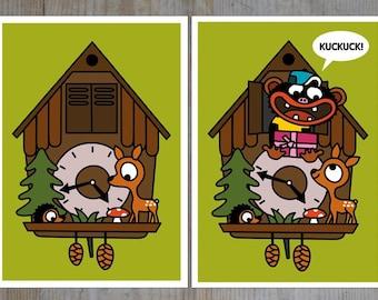 """Wobbly card """"cuckoo"""""""
