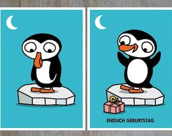 Penguin Wiggle Card
