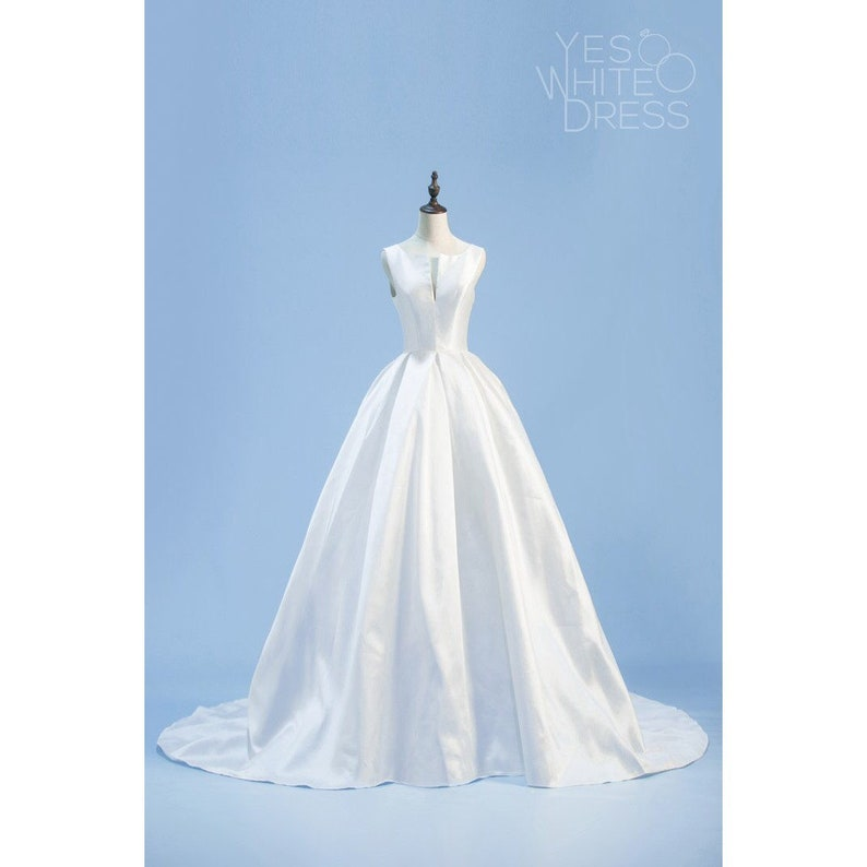 Danielle Ball Gown Wedding Dress Lace Up Back Satin Like Etsy